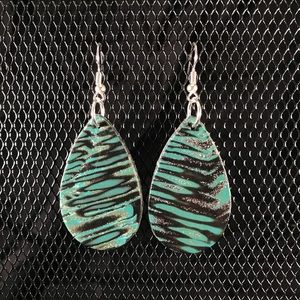 Funky Teardrop Earrings